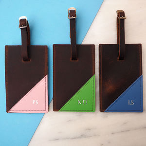 Oiled Leather Luggage Tag