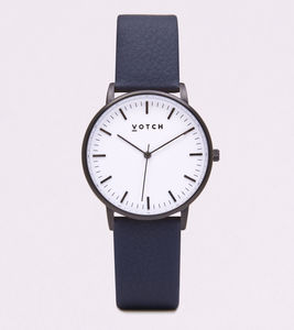 New Collection Black And White Vegan Leather Watch