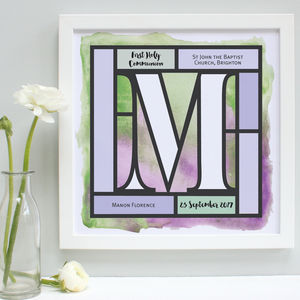 Personalised First Holy Communion Framed Print - first holy communion gifts