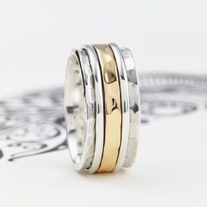 Men's Karma Spinning Ring - rings