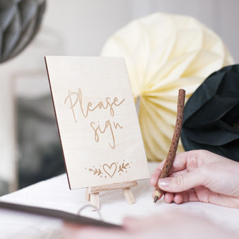 'Please Sign' Wedding Guest Book Sign