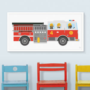 Fire Engine Print - posters & prints