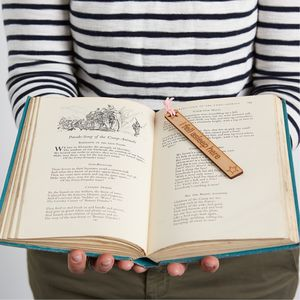 Laser Cut Wooden Bookmark With Option To Personalise - bookmarks