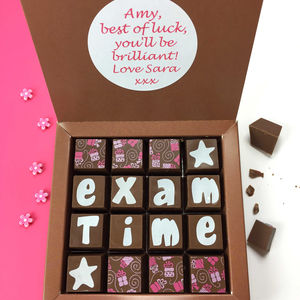 Personalised Exam Time Message Chocolates