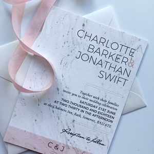 Blush And Grey Modern Invitation