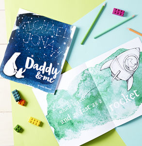 Personalised Daddy And Me Book - diaries, stationery & books