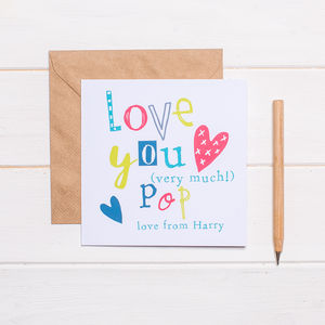 Personalised Father's Day Card For Pop - father's day cards