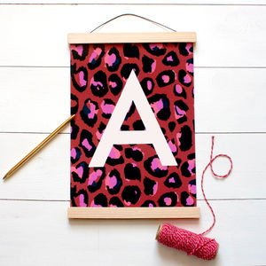 Leopard Print Initial Print - the a-z collection