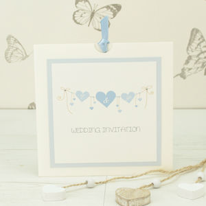 Heart String Wedding Invitation - invitations