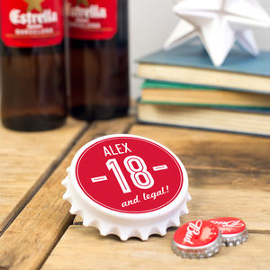 Personalised Birthday Bottle Opener - 18th birthday gifts