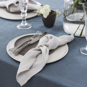Dove Grey Linen Napkin - table linen
