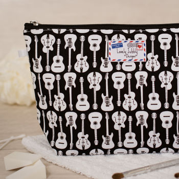 Guitars Musical Guitar Music Gift Toiletry Wash Bag