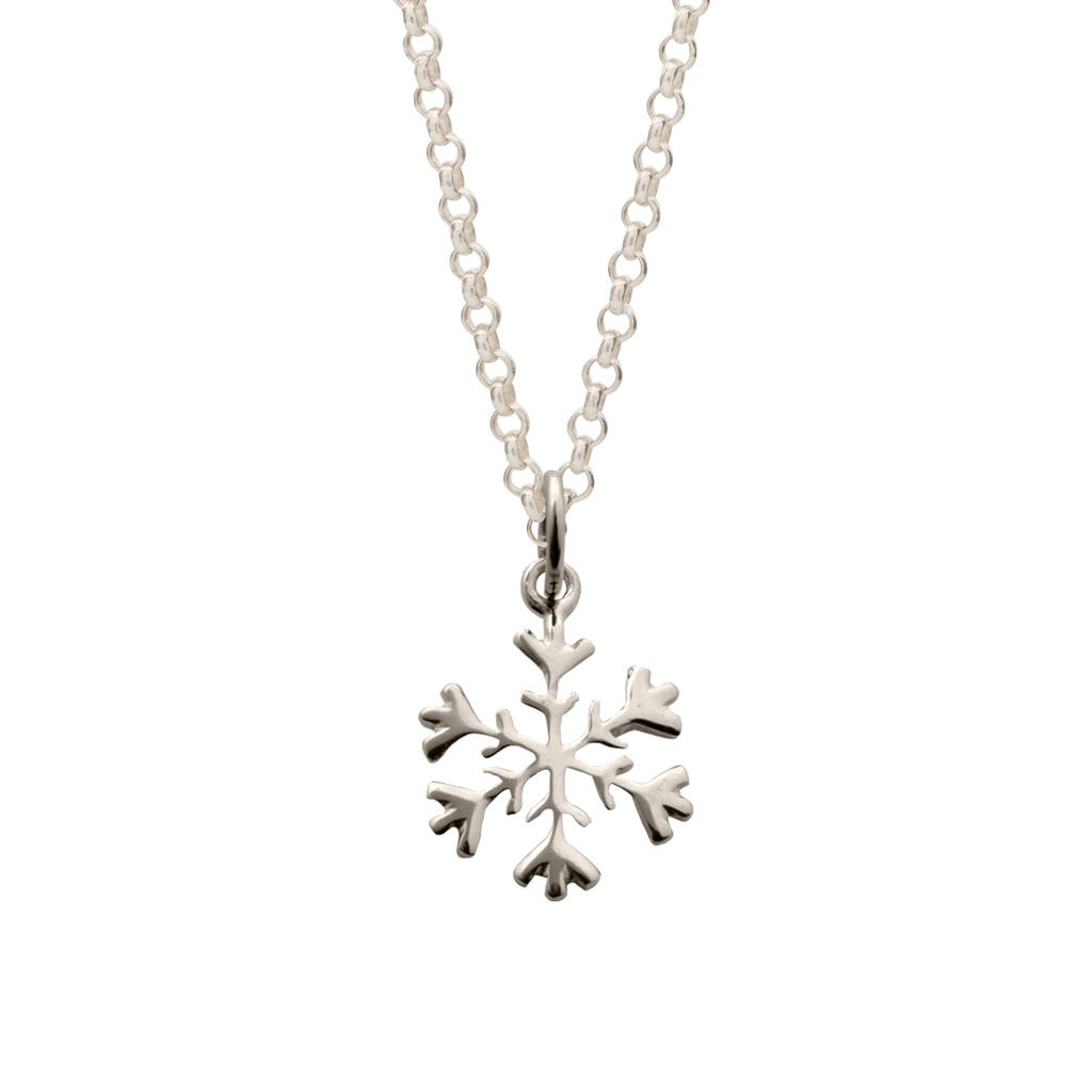 jewellery necklace products snowflake winter dollie