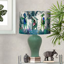 Tropical Giraffes Lampshade Blue Giraffes