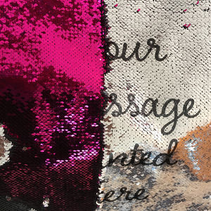 Personalised Sequin Reveal Cushion Colours Any Message - embroidered cushions