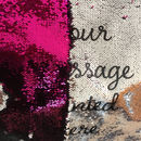 Personalised Sequin Reveal Cushion Covers Any Message