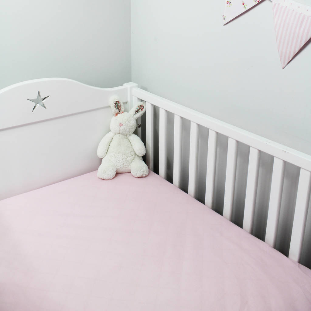 pink fitted sheet cot bed and single by lime tree london. Black Bedroom Furniture Sets. Home Design Ideas