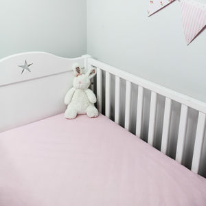 Pink Fitted Sheet Cot Bed And Single - cot bedding