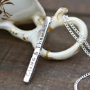 Personalised Silver Bolt Necklace