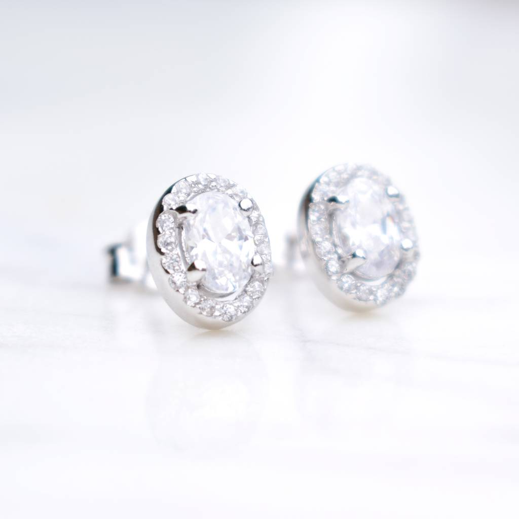 by lyst in deserio product fantasia earrings jewelry gallery cubic stud round null zirconia