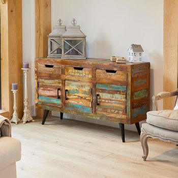 Dunes Large Boat Wood Sideboard