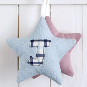 Personalised Initial Star Decoration - children's decorative accessories