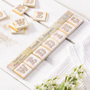 50 Personalised Wedding Favour Chocolates - edible favours