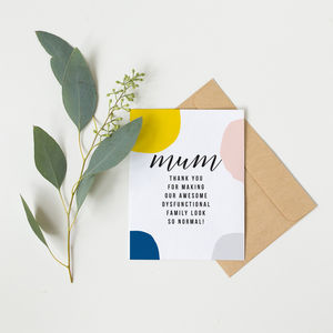 'So Normal' Funny Mothers Day Card - mother's day cards & wrap