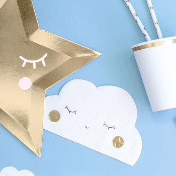 Cloud Shaped Paper Napkins