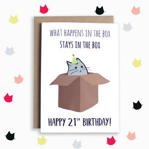 Funny 21st Birthday Card - 21st birthday cards