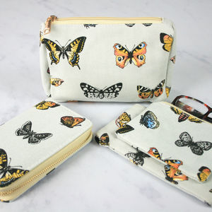 Butterfly Print Make Up Bag - make-up & wash bags