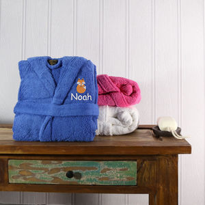 Personalised Boy's Hooded Bathrobe - bath robes