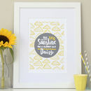 Sunshine Personalised Nursery Print