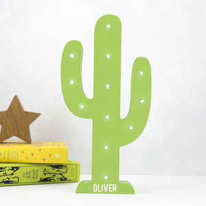 Personalised Cactus LED Light - lighting
