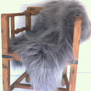 Grey Icelandic Sheepskin Rug - rugs & doormats