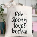 Personalised Bloody Love Books Bag