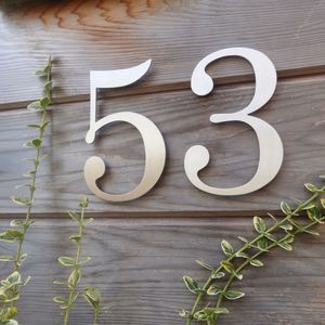 Contemporary Century Stainless Steel House Number - home decorating