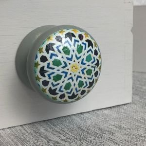 Moroccan Mosaic Door Drawer Cupboard Knobs - door knobs & handles