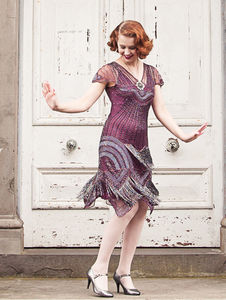 Embellished Downton Abbey Dress - flapper dresses
