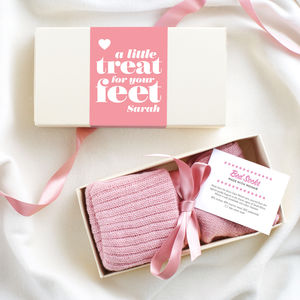 Luxury Mohair / Cashmere Bed Socks In Gift Box - personalised gifts