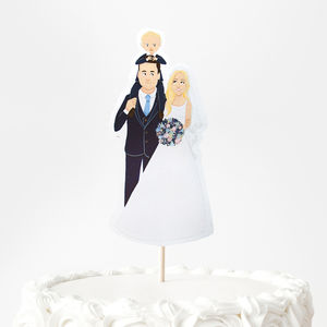 Personalised Wedding Portrait Cake Topper