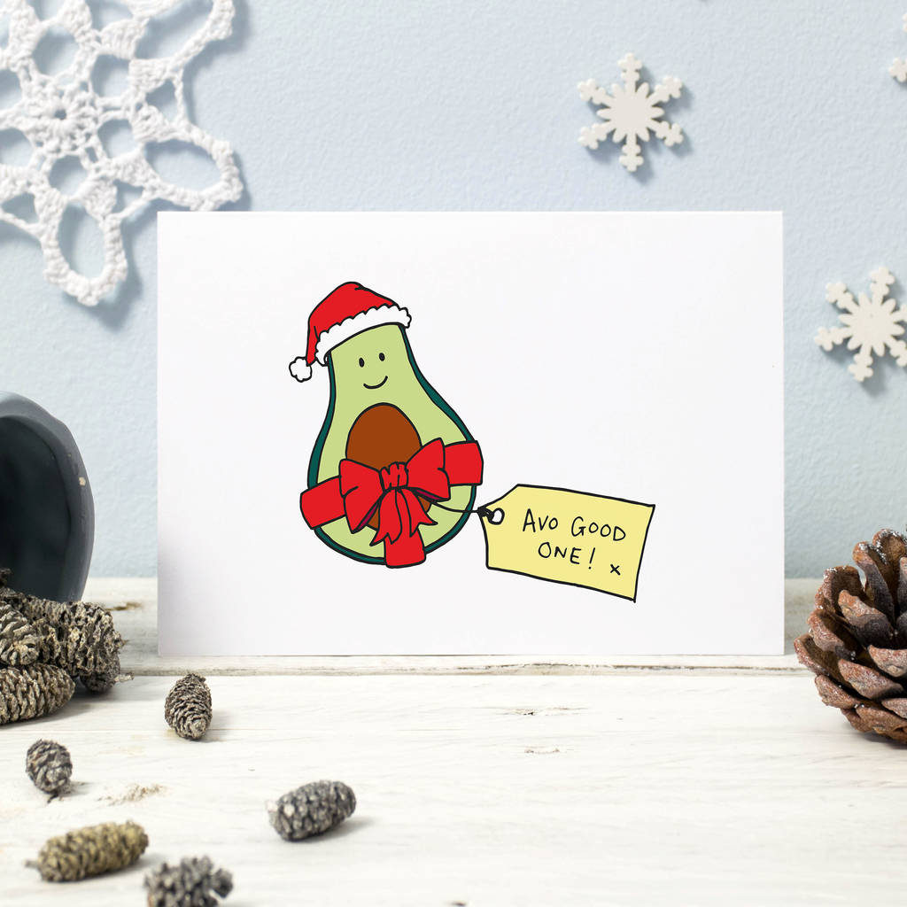 avo good one! funny avocado christmas card pack by oops a doodle ...