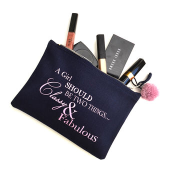 'Classy And Fabulous' Make Up Bag