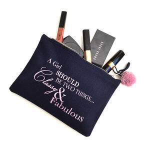 'Classy And Fabulous' Make Up Bag - make-up & wash bags