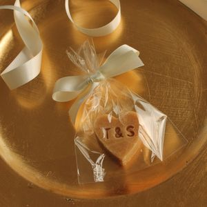 Personalised Scottish Tablet Heart Wedding Favour