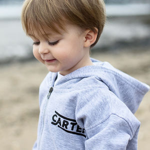 Personalised Retro 'Est' Zip Up Organic Hoody - clothing
