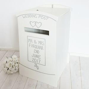 Lockable Wooden Wedding Post Box - winter sale