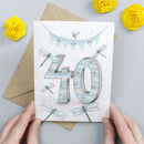 Happy 40th Birthday Greeting Card Dragonflies