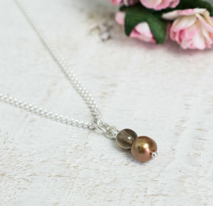 Handmade Chocolate Pearl Necklace