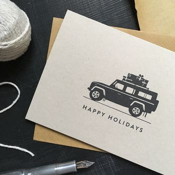 'Happy Holidays' Land Rover Christmas Card